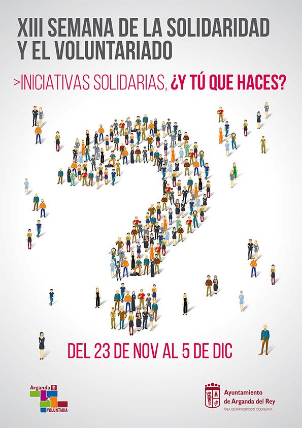 El 23 de noviembre comienza la XIII Semana de la Solidaridad y el Voluntariado