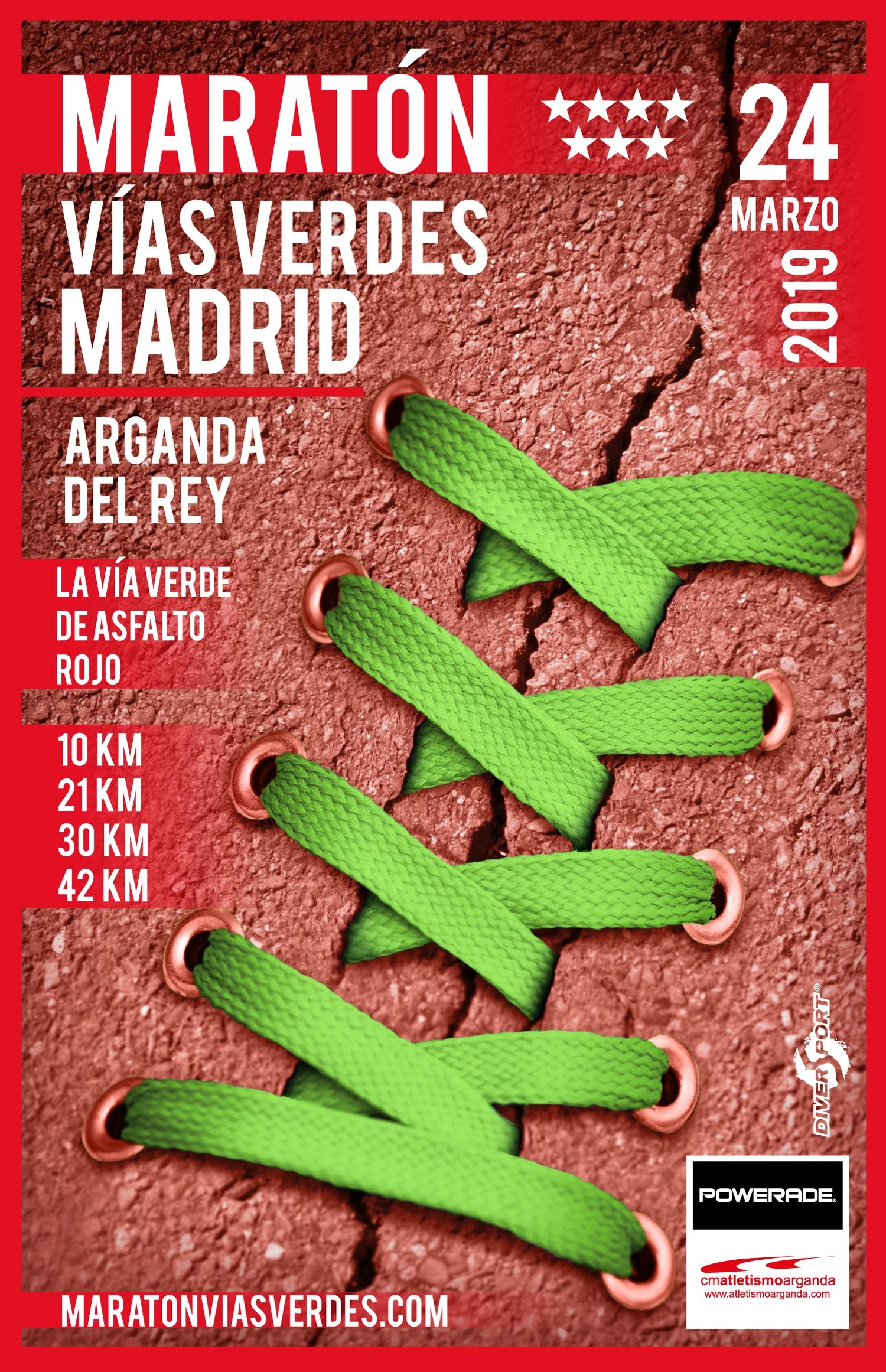 La sexta edición de la Maratón de las Vías Verdes se celebrará el 24 de marzo