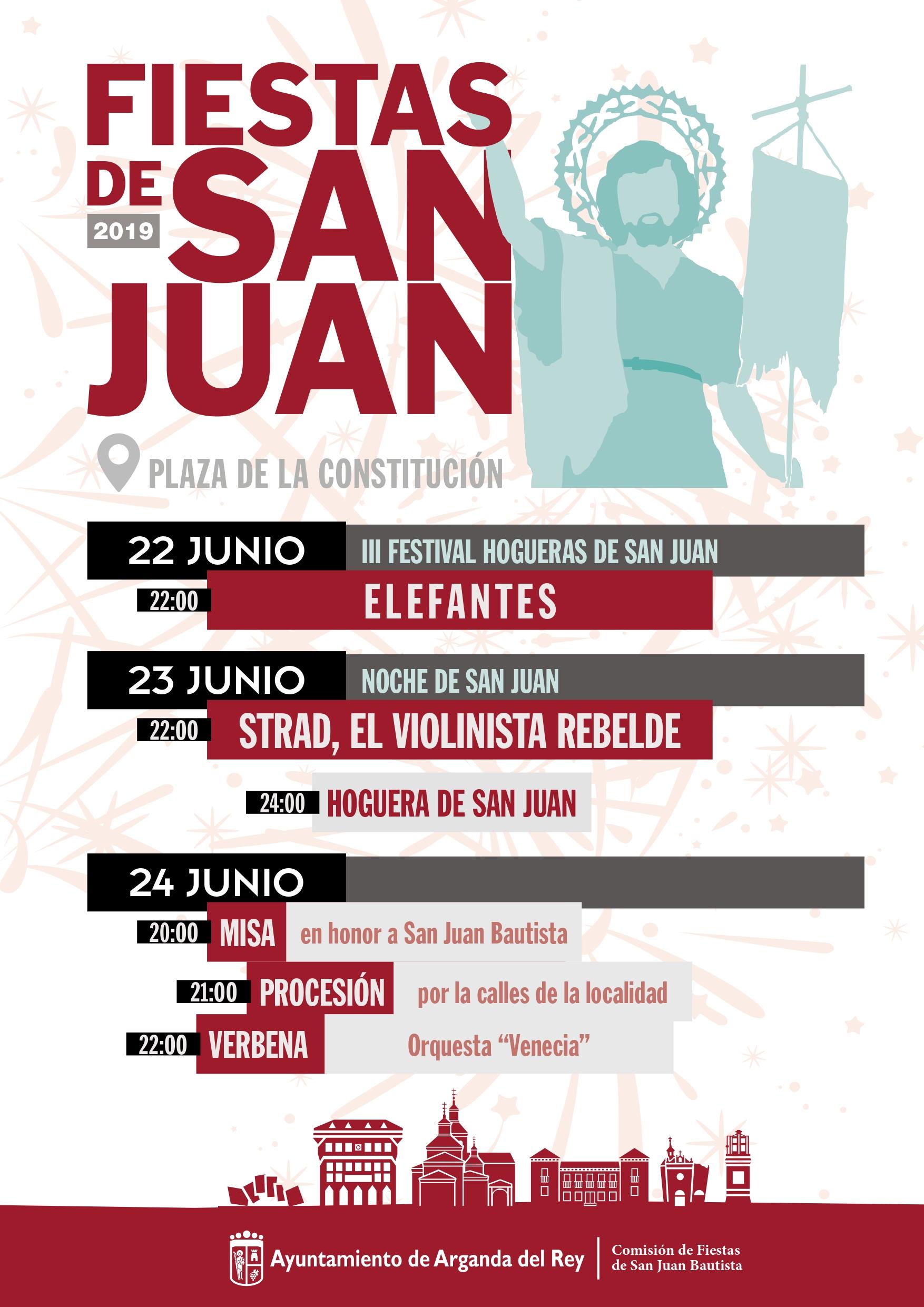Las Fiestas de San Juan serán del 22 al 24 de junio