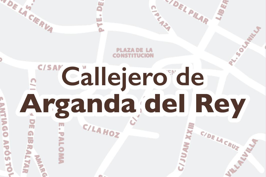 CALLEJERO DE ARGANDA