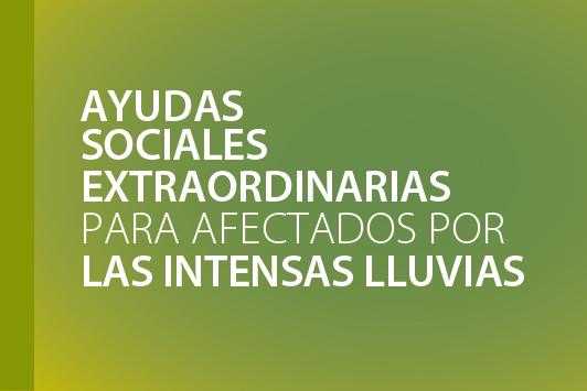 AYUDAS SOCIALES  EXTRAORDINARIAS PARA LOS AFECTADOS POR LAS INTENSAS LLUVIAS 2019