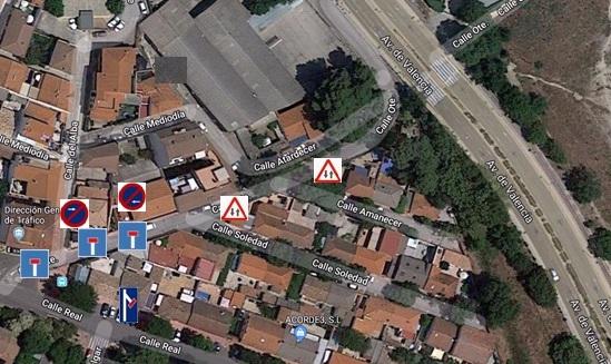 La calle Oriente se cortará al tráfico durante una semana por las obras de una nueva acometida en la red de saneamiento