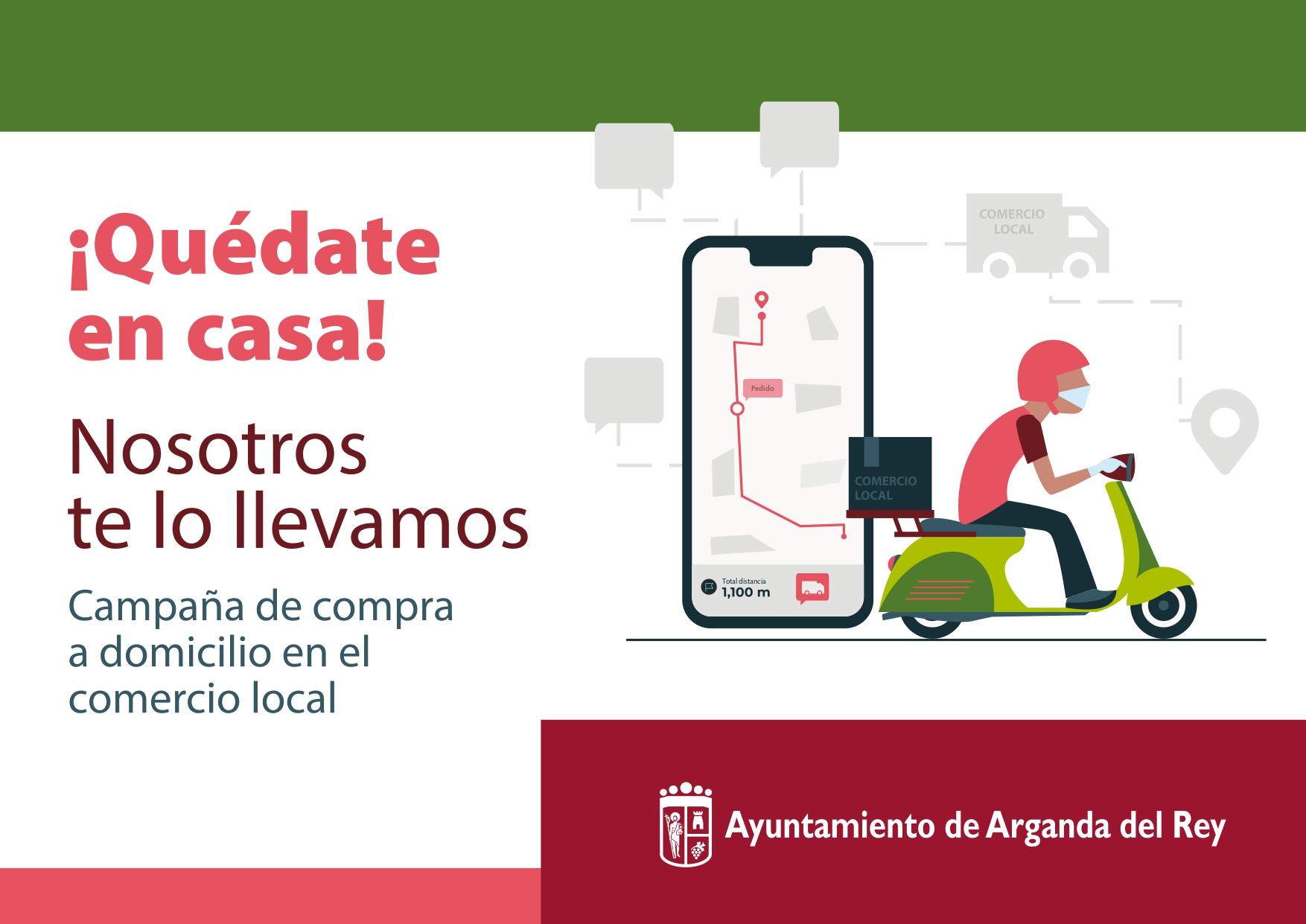 El Ayuntamiento de Arganda realiza un listado de empresas con servicio a domicilio