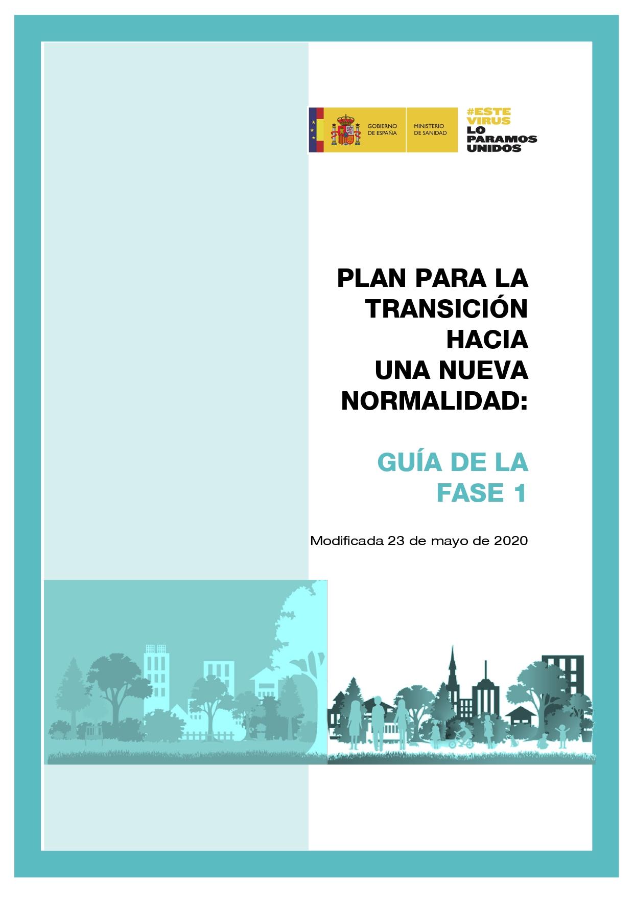 El Ministerio de Sanidad ha publicado una Guía con las medidas de la Fase 1