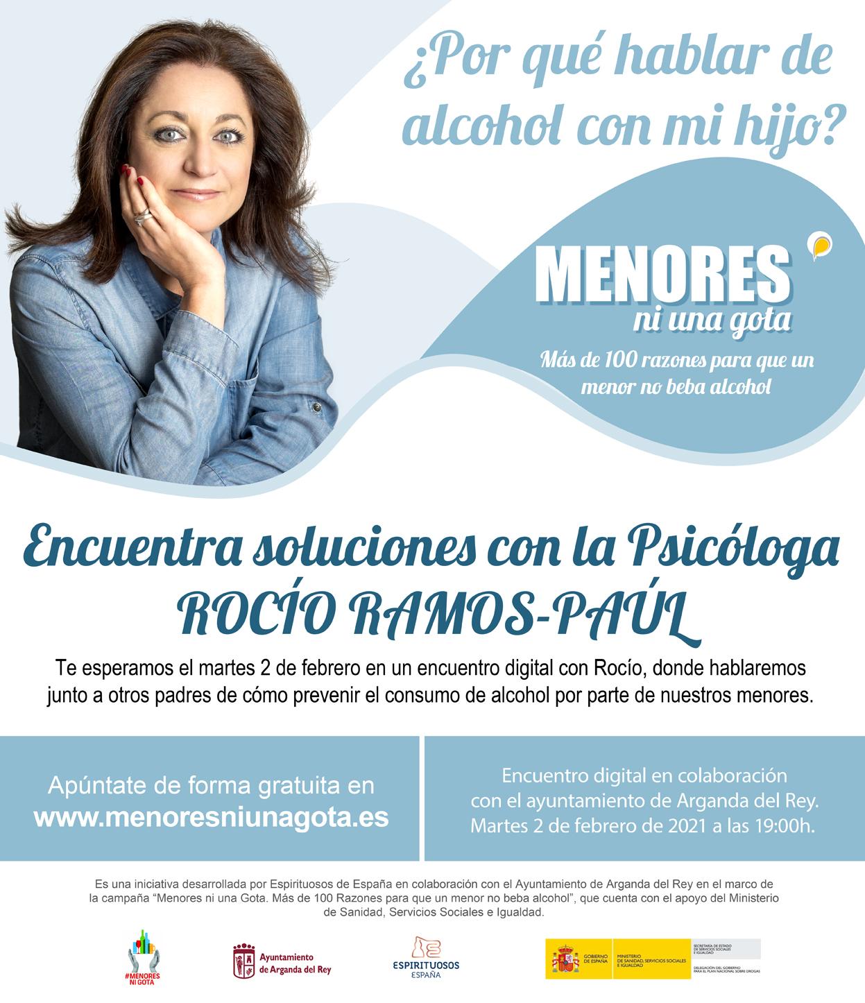 El 2 de febrero tendrá lugar un encuentro digital para prevenir el consumo de alcohol entre menores