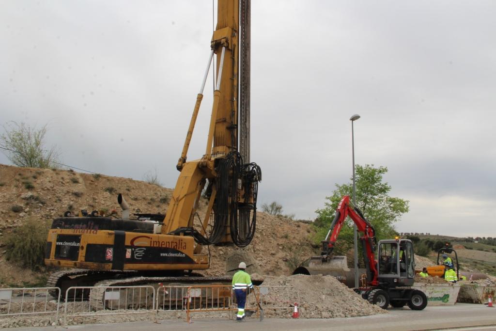 Prosiguen las obras de la nueva red de drenaje urbana perimetral incluida en el Plan Sanea
