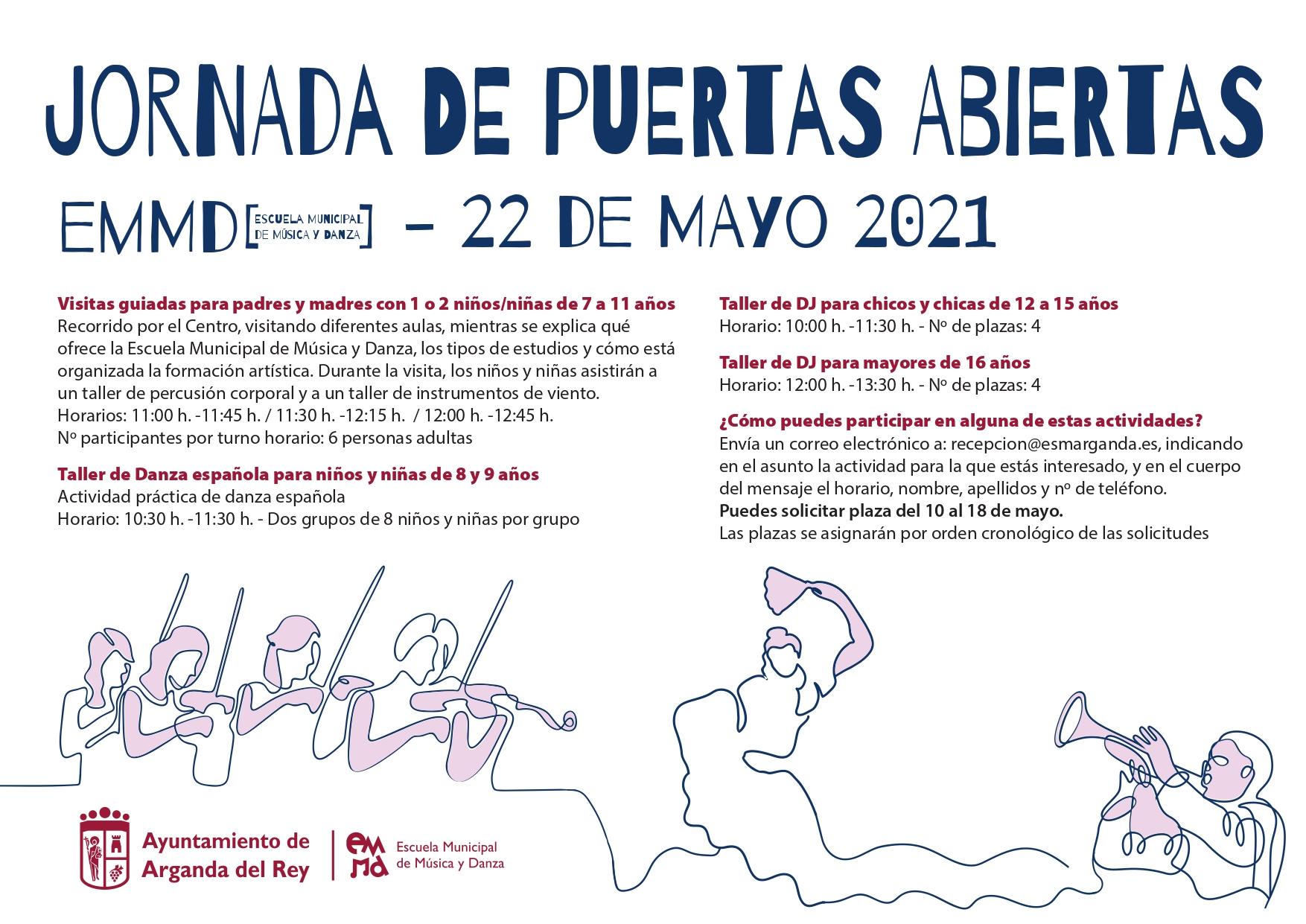 La Escuela Municipal de Música y Danza celebrará una Jornada de Puertas Abiertas el 22 de mayo