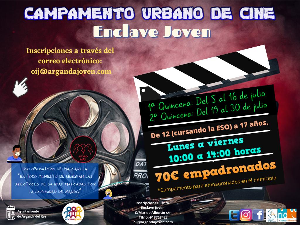 El Enclave Joven organizará un Campamento Urbano de Cine durante el mes de julio