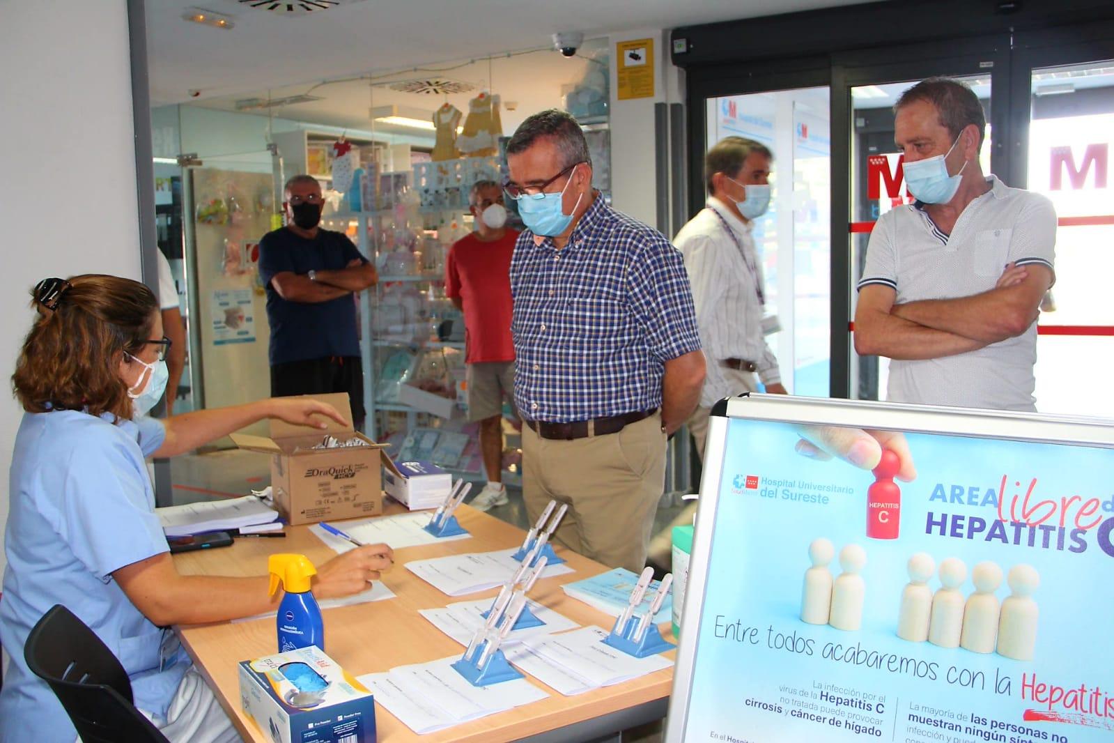 El Hospital del Sureste realizó un cribado de hepatitis C con motivo del Día Mundial contra la Hepatitis