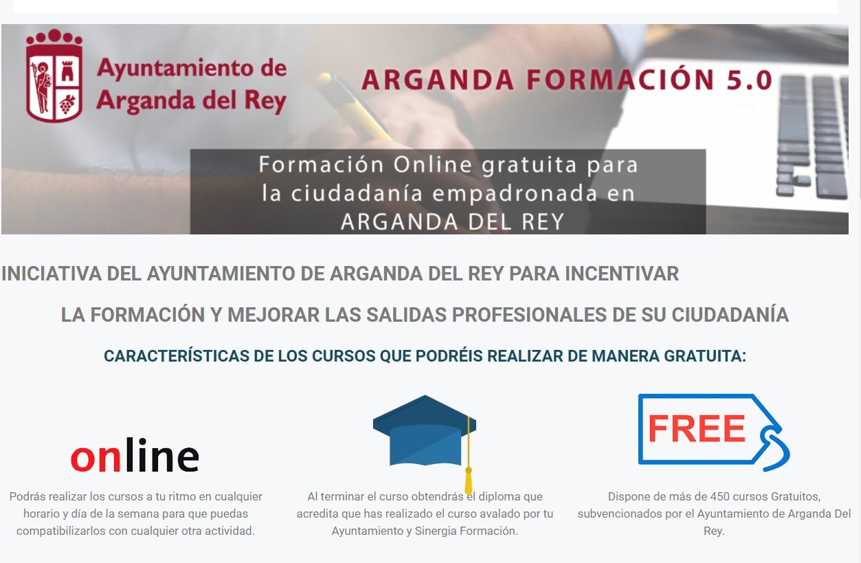 """La plataforma """"Arganda Formación 5.0"""" oferta más de 450 cursos gratuitos"""